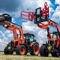 Kubota M6-122 & M6-132 Traktoren mit Frontlader (Quelle: Kubota)