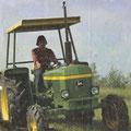 John Deere 1130 Traktor mit Sonnendach (Quelle: John Deere)