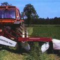 Hesston 1150 Mähwerk mit Fiat Traktor (Quelle: AGCO)