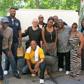 (Almost) the whole crew (from left to right): Shontelle Norman, Edwin Hawkins, Derrick Hall, Zoltán Szalatnay, Patrick Sturgis, Lena Byrd- Miles, Corey Baugh, David Blakely, Nona Brown, Denise President & Andre Fullard (front), Zurich, Switzerland 2015