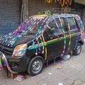 祭り後の車 in デリー