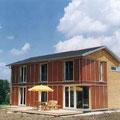 Neubau Einfamilienhaus, modulare Erweiterbarkeit, Solarfassade, Holzbauweise, Stetten am kalten Markt