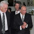 "Ministerpräsident Winfried Kretschmann, OB Boris Palmer und Götz Adriani bei der Ausstellungseröffnung ""Tübinger Vertrag"" am 7.März 2014"