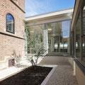Augustin-Bea-Haus Reutlingen, Betrachtungsgarten mit neuem Foyer