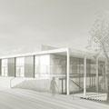Neubau Sporthalle Pfullingen, von Nordost