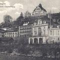 Schwabenhaus Tübingen, hist. Postkarte ca. 1905