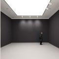 Kunsthalle Tübingen, Kleiner Saal mit schwarzer Wand