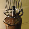 Corbidon : lampe ambiance bidon ancien et corbeille 50'