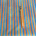 Stoff Streifen 4 - breite Streifen blau/orange