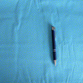 Stoff Punkte 18 - Hellblau/kleine Punkte Hellgrün