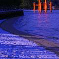 砂浜の薄雪  【2012.2.3】