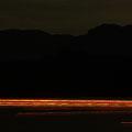 廿日市市阿品 宮島花火大会後、帰路に就く船の光跡 【撮影:2008.8.14】