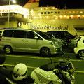 舞鶴市浜 舞鶴港 新日本海フェリー小樽出航前風景 【撮影:2011.7.12】