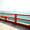 阿伏兎観音 敷き板が海側に傾斜しています…(>_<)   福山市沼隈町  【撮影:2011.3.28】