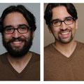 Vorher Nachher Mann - Haar- und Bartschnitt