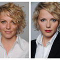 Vorher Nachher - Business Make up und Hairstyling