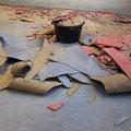 ...musste der Boden teilweise rausgerissen...