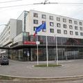 Unser Hotel in Pilsen mit je 2 Schlafbereichen und 2 Flatscreens - wauuuuu Luxus pur