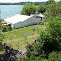 Und so sieht unser Zelt von oooooben aus