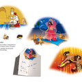 Invitation with illustration - I created this pop-up style invitation in requirement to a trio of events for Dubai Dessert Classic VIP guests. My colourful illustrations represent the Moroccan, African and Arabian theme evenings.