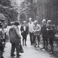 Wandergruppe des TBK im Frühjahr im Hagenschieß/ Pforzheim