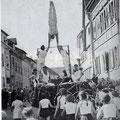 Gruppe des TBK bei einem Umzug in der Marktstraße