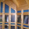 Dachgeschoßausbau Kleiderschrank unter der Dachschräge in  45° Raumecke