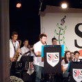 Die Solisten bei When the saints go marching in: Klarinette - Florian F. , Tenor-Saxophon - Lukas, Posaune: Florian L., Trompete - Laurin