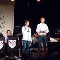 Die Moderatoren des Abends, Tim und Basti