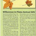 Pilates Zentrum Telfs - Herbstkurse 2013