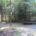 Der Grill- und Picknickplatz auf dem Burgstock