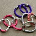3) Armband aus echter Obijime-Kordel mit versilbertem Verschluß oder aus Edelstahl