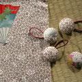 1) Zopfgummi mit Kimonoseide