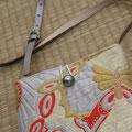 7) Tasche aus Obibrokat, gefüttert