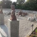 Figuren für den Garten in Sandstein und Granit