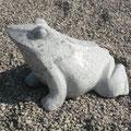 Frosch aus grünem Marmor