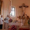 Gottesdienst mit Fahnenweihe