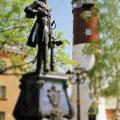 Denkmal von Zar Peter dem Grossen beim 32 m hohen Leuchtturm