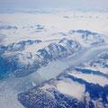 Groenland sud vu d'avion