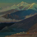 JOMSOM. NEPAL 2004 (oil on canvas) 40x85