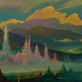 НЕБЕС И ЗЕМЛИ СВЯТЫНИ 2004 (холст,масло) 45х95