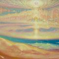 HEAVENLY ATLANTIS.  WAVES OF WORLD HARMONY.  2016-2017 (oil on canvas) 85x150