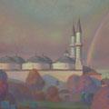 РАДУГА. ЭДИРНЕ  2012 (картон.холст.масло) 46x65