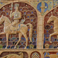 Monumental-decorative panel JANGAR (relief, ceramics) 1988-1990. Authors V. ADYANOV, S. KUZNETSOV, R. SHERIFZYANOV