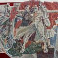 Монументальное панно РЕВОЛЮЦИЯ (мозаика)
