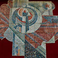 Monumental panel REVOLUTION. HAMMER AND SICKLE (mosaic) 1987-1988