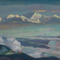 EVER-BEING SILVER. KANCHENJANGA 2008 (oil on canvas) 65x110