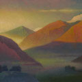 WAY TO MUSTANG. NEPAL 2003 (pasteboard, oil on canvas) 26x60