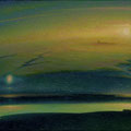 REFLECTION 1997 (oil on canvas) 34x100