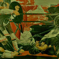 THE BATTLE OF THE KULIKOVO FIELD (Novosibirsk) 1986-1987 (tempera mural painting) 200x600
